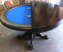 round poker table with dining top custom poker tables blackjack craps tables chairs custom poker