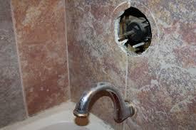 slow leak out bathtub spout floor bathroom replace remove