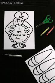 free thanksgiving art i am thankful thanksgiving craftivity playdough to plato
