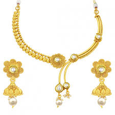 women necklace set images Sukkhi cluster laxmi coin temple gold plated necklace set for jpg