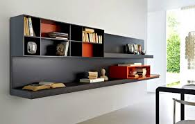 hanging wall bookshelf home design