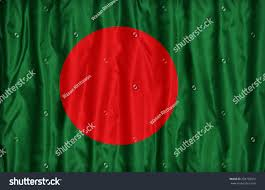Bangladesi Flag Bangladesh Flag Pattern On Fabric Texture Stock Photo 233730352