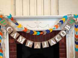 Camping Decorations Camping Birthday Decorations Camping Themed Birthday Banner