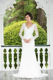 wedding dress no mermaid v neckline backless sleeves lace wedding