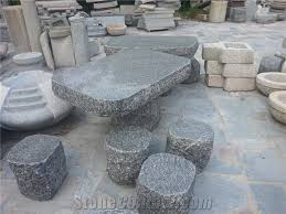 Natural Stone Benches Natural Stone Garden Table And Benches In Landscaping Polished
