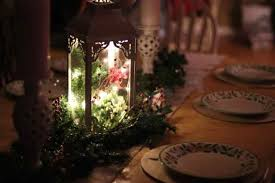 lantern centerpiece easy christmas lantern centerpiece with greenery