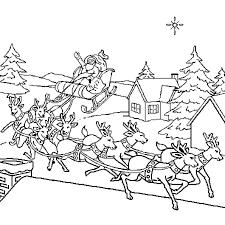 Coloriage traineau du Père Noël en Ligne Gratuit à imprimer