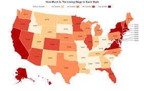 cheapest us states to live in this is how much a living wage is in each state zippia