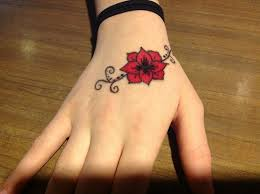 red flower hand sharpie tattoo by how do you crayon on deviantart