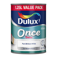 dulux once gloss paint