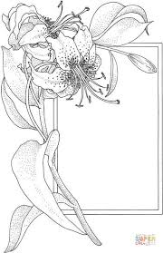 flower and the frame coloring page free printable coloring pages