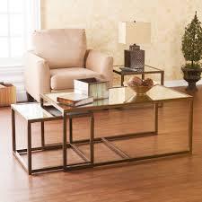 glass nesting coffee tables harper blvd morganton nesting coffee end table 3pc set overstock