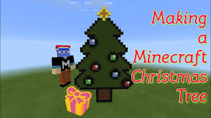 making a minecraft 2d christmas tree minecraft timelapse build