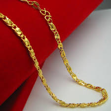 new collection gold necklace images Wholesale for a long time does not fade gold necklace gold 18k jpg