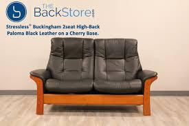 stressless buckingham seat loveseat high back sofa paloma black