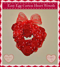 valentine u0027s decorations for preschoolers egg carton heart wreath