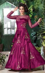 shop designer gowns online montreal magenta indian gown with scarf