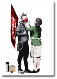 banksy greeting cards the world s selection