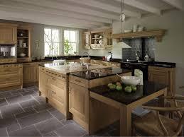 Kitchen Island With Black Granite Top Dull Grey Wooden Kitchen Cabinet Neat Ivory Ceramic Floor Brigh