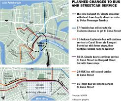 New Orleans Street Car Map by Rta Approves Routes For New North Rampart Streetcar Area Bus
