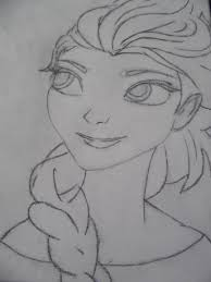 elsa frozen drawing u2013 1 jessica u0027s art progress