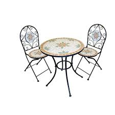 Mosaic Bistro Table Mosaic Bistro Set With Two Chairs Free Shipping Today