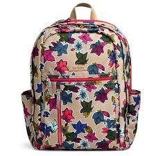 vera bradley home decor vera bradley lighten up grand backpack in falling flowers neutral