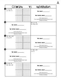 systems of equations flowchart graphic organizers bundle