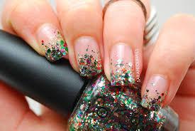 sarah lou nails rainbow glitter tips