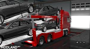 car carrier truck daf xf car carrier daf xf auto transporter mod for ets 2