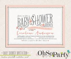 brunch invitation wording baby shower invitations for brunch baby shower diy