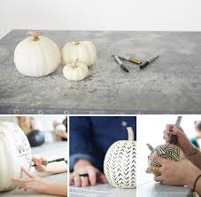 White Pumpkin Decorations Halloween No Carve Pumpkin Decorating Think Make Share