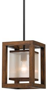 Wood Pendant Light Iron Wood Pendant Island Light 8 Wide Fx 3536 1p