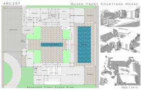 Courtyard Homes Floor Plans Oceanfront House Plans Chuckturner Us Chuckturner Us