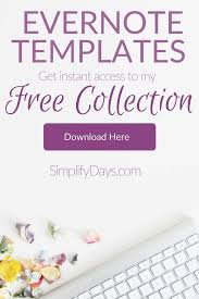 using evernote templates workshop from simply days youtube