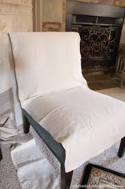 Accent Chair Slipcover Slip Covering An Armless Accent Chair Sewing
