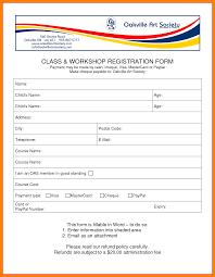 free workshop registration form templates packaging slips