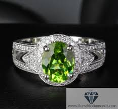 peridot engagement rings oval cut peridot diamond pave halo milgrain engagement ring