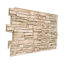 faux deep stacked stone paneling