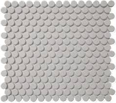 getaround penny round tile  grey matte with getaround grey matte penny round  from missionstonetilecom