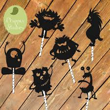 instant download monster shadow puppets shadow puppet