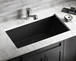 Mr Direct Sinks And Faucets 848 Black Large Single Bowl Undermount Trugranite Kitchen Sink