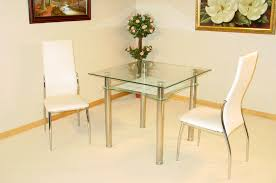 Glass Dining Table Chairs 2 Seat Glass Dining Table Gallery Dining
