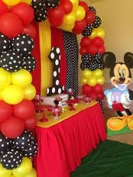 mickey mouse party decorations mickey mouse themed 1st birthday party via kara s party ideas