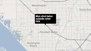 Los Angeles Valley College Map by Man 18 Shot Outside Fountain Valley Roller Rink Huntington