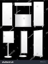 blank roll banner display vector template stock vector 78648112