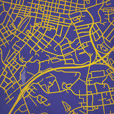 Iowa State Campus Map James Madison University Campus Map Art City Prints