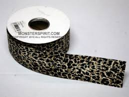 leopard ribbon spirit product large pre made garter color green and