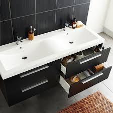 Hudson Reed Bathroom Furniture Hudson Reed Quartet Black Wood Vanity Unit 1440mm With Regard To