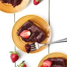 blogue de cuisine gâteau sans lactose au chocolat et à la confiture de fraises